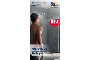 Neu auf Lager: KREOS Design WALK-IN XB made by Kermi